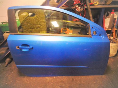 ASTRA MK5 VXR 3-DOOR O/S DOOR (drivers) IN ARDEN BLUE